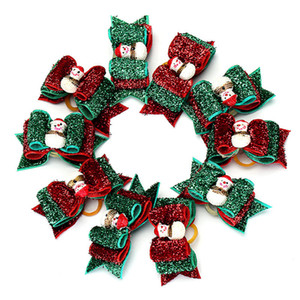 Noel Pet Saç Bow Kardan Adam ilmek Kediler Köpek Headdress Çiçek ile Saç Bandı Evcil Saç Takı OOA7448-7