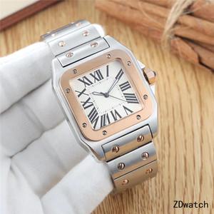 Top dos homens da qualidade Relógio de luxo Mulheres Relógios de aço inoxidável Sapphire vestido vidro relógio automático impermeável Original fecho do diamante para fora congelado