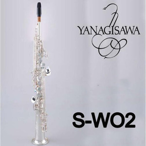 Japan YANAGISAWA SW02 B flat Musikinstrument Versilbern Sopransaxophon Yanagisawa gerade Qualität Saxophon Versand
