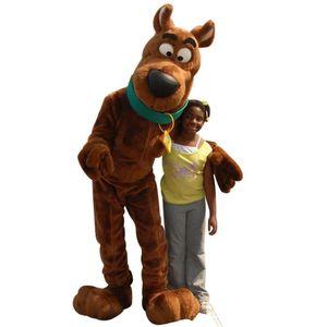 Nuevo Scooby Doo Dog traje de la mascota del tamaño adulto del vestido de lujo de Navidad