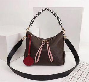 Orijinal Yüksek Kaliteli Tasarımcı Lüks Çantalar Cüzdanlar Beaubourg hobo MİNİ Çanta Bayan Marka Bez Çiçek Dokuma Gerçek Deri Omuz Çantaları