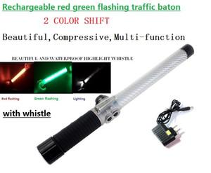호루라기를 가진 40cm 재충전 용 LED 비상등 도로 소통량 Multy functiontwo 색깔 소통량 배턴