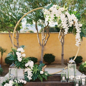 grande taille bricolage nuptiale Grande Fer ronde Arches Anneau cadre décoration fond fleur porte mariage de cadre Props Décoration