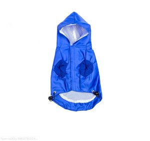 Factory Whole Sale High Quality Summer Dog Hooded Reflective Waterproof Dog Clothing Small Dog Pet Raincoat Pet Clothing