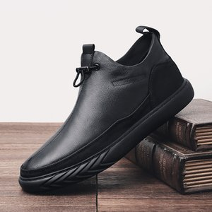 Autumn Shoes Women Martin Boots Genuine Leather 2019 Winter Vevlet Fur Warm Male Fashion Black Snow Boots Ankle Slip On
