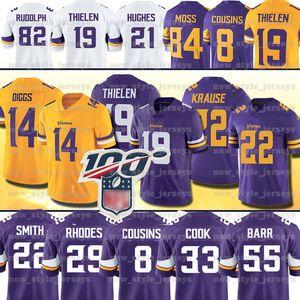 19 Adam Thielen Minnesota 22 Harrison Smith de Viking Jersey Stefon Diggs DANIELLE HUNTER 33 Dalvin Cook 8 Kirk Cousins 84 Randy Moss