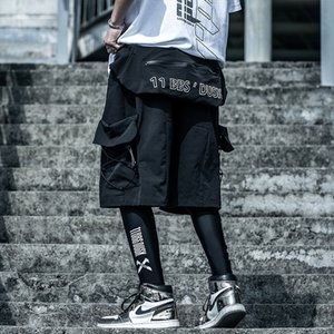 Männer Hip Hop Jogger Street Shorts Sommer Taschen Harajuku Cargo-Shorts Tatical Military Jogginghose Abnehmbare Tasche