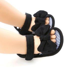 Bébé fille Chaussures respirant anti-Slip Bow Sandales 0-18m nourrisson semelle souple Premier Walkers Chaussures d'été pour bébé