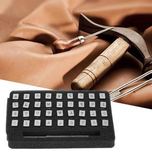 36pcs 13mm Deri Damga Alfabe 26 Mektupları Set Punch DIY Leathercraft Aracı Die 10 Numaraları