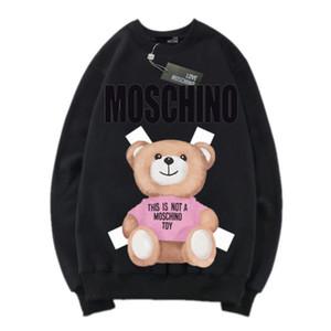 hoodies Comprimento outono e inverno camisolas Parágrafo bifurcação camisetas de manga comprida de algodão puro Sweater Roupa Europeia