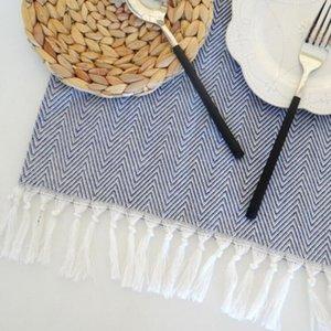 EHOMEBUY 38 * 62 centimetri cotone con fatti a mano della nappa tovagliolo tovagliolo Placemat Isolamento termico Mat Mat Tavolo da pranzo tovaglioli confortevole