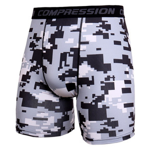 Men's Exercise Gym Shorts Pro Quick-dry Sportswear Running Bodybuilding Skin Sport Training Fitness Compression Shorts with Comy