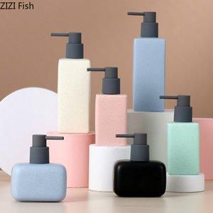 Semplice solido di colore in ceramica dispenser di sapone da bagno bottiglia di shampoo Box Soap Box Stampa Home Detergente bagagli