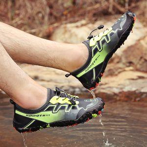 Лето Водные виды спорта Обувь Мужчины Пляж Сандалии Upstream аква обувь Wome Quick Dry River Тапочки Дайвинг Плавание Носки Tenis Мужчина для