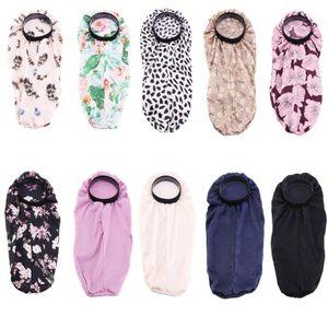 Extra Large Simulation silk flower Nightcap Bonnet for Natural Hair Soft Long Satin Bonnet Bonnets for Women Night Sleep Hair Loose Cap wit