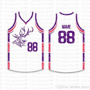 Top Basketball personnalisés Maillots Logos Hommes Broderie Jersey Livraison gratuite à bas prix de gros tout nom un nombre Taille S-XXL sfs5