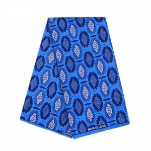 파티 드레스에 대한 폴리 에스테르 왁스 인쇄 블루 의류 원단 앙카라 새로운 Bintarealwax 고품질 6 야드 직물