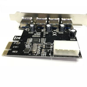 PCIe PCIe PCI USB3.0 4 portlu genişletme kartı Masaüstü SuperSpeed USB3.0 arayüzü PCI çıplak kart Ekspres