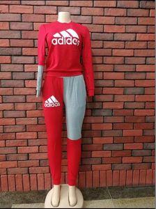 Women's Sportswear Hoodies fashion Print long Sweatshirt + Pants Two-piece Set Women Jogging Sport Suit for Ladies Leisure Tracksuit M-