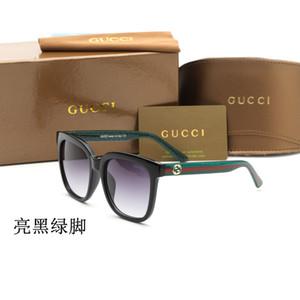 Top qualité de marque lunettes de soleil hommes femmes Planche cadre lentille en verre charnière métal miroir chat lunettes de soleil avec des yeux boîte détail libre et étiquette