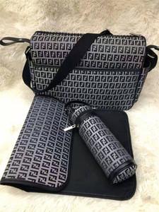 Bambino Designer Diaper Bags Diaper Bag Nursing borsa con interfaccia USB di grande capienza impermeabile Nappy Bag Mummy Maternity Kit