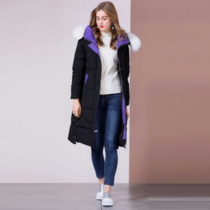 Ms high-end Thickened warm coat down Jacket Clothes Women's Mid-length Straight tube with cap Winter Fashion down Coat