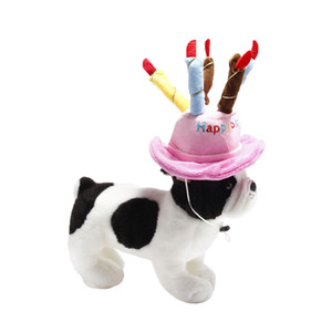 New Cute Dog Birthday Party Hat Pet Birthday Hats Fashion Dog Cat Birthday Cake Cap Hat