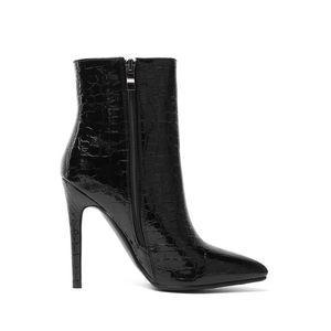 Hot tacco Sale-sottile sexy scarpe Concise donne autunno-inverno Moda Scarpe a punta Zipper Stivaletti Big Size 34-43