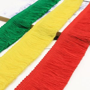 25M Long Fringe Lace Tassel Polyester Lace Trim Ribbon Latin Dance Skirt Curtain Fringes for Sewing Clothing Accessories tassel