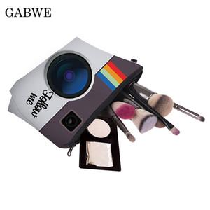 GABWE Bolsas organizadoras de cosméticos, estilo digital, impresión de letras, bolsa de cosméticos, moda, mujeres profesionales, bolsos, bolsos de viaje, maquillaje, maquillaje