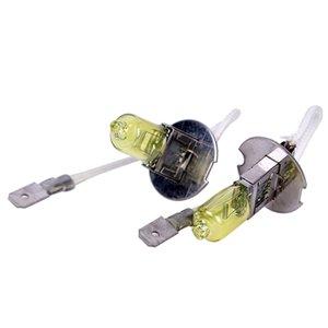 10PCS 55W 노란색 빛 노란색 H1 H3 H4 H7 H8 H11 9005 9006 할로겐 전구 12V 55W 3000K 석영 유리 크세논 자동차 헤드 라이트 자동 램프