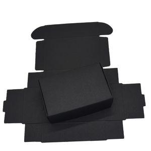 9.4x6.2x3cm Scatole di cartone di carta nera per pacchetto di carte regalo di nozze Scatole di carta di carta kraft Compleanno decorazioni di caramelle che avvolgono scatola di decorazioni 50PCS