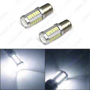 2PCS الأبيض 1156 BA15S 5630 33-SMD 850LM السيارات بدوره الذيل الإشارة الفرامل LED ضوء لمبة مصباح # 5286