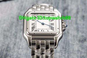 Yeni kadın saatleri, İsviçre Quartz Safir Kristal Romen rakamları Beyaz 316L Paslanmaz Çelik Katlanır Toka Katı Durum Geri Arama