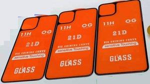 Back 21D Full Cover полный клей закаленное стекло протектор экрана для iPhone 11 PRO 11 pro max 200 шт. / лот только заднее стекло