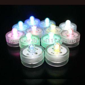 12pcs Lot 100% Wedding Decoração submersível Floralyte LED chá partido das luzes LED impermeável Decoração da vela Luz Floral LED