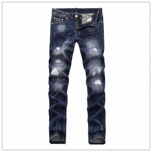 Vogue Erkek Jeans İlkbahar Yeni Medusa Deep Blue Skinny pantolonlar Tasarımcı Delik Elastik Fermuar Jeans