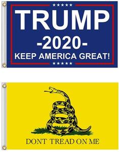 90 * 150 Trump Flag 3 * 5 pieds américains US Trump 2020 Drapeau et Gadsden Kit Drapeau Yard Intérieur Extérieur Garden House Ne marchez pas sur moi