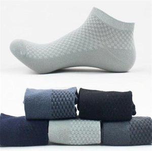 Primavera Designer Men Calzino Pantofole sport respirabili Stretch Solid Mens di colore calze sportive calze Lunghezza Plaid caviglia