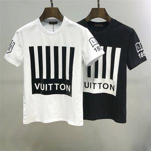 Yaz erkek Tişörtlü Fashionable erkek o yaka tişört Yaz Yüksek kaliteli Sokak çift tişört Boyutu: m-XXXL