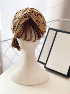 Bandeaux élastiques designers pour hommes et femmes Nouveau style vintage Fille de luxe Elastic Retro Turban Headraps Bandes de Noël Cadeaux de Noël