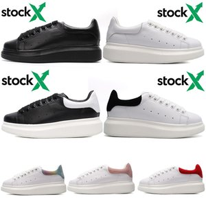 Para hombre de los zapatos para mujer diseñador de la marca REFLEXIVO formadores de cuero rojo verde de la plataforma los zapatos planos ocasionales del banquete de boda del ante de Deportes con valores x