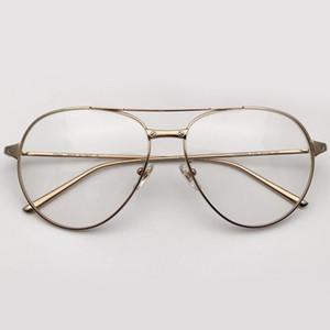 Pilot Stil Gözlük Çerçevesi Marka Tasarımcı Yüksek Kalite Miyop Gözlük çerçevesi Retro Moda Kadın Optik