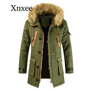 Men's Down & Parkas Plus Size S-5XL Winter Jacket Men Thicken Warm Casual Long Outwear Hooded Collar Jackets And Coats Mens