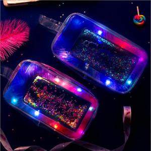 Multi Light Transparent Quicksand Pen Box Portable High Capacity Pencil Bag Pencil Cases & Bags Office & School Supplies HA700