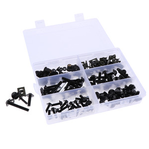 170Pcs Unviersal Motorcycle Complete Fairing Bolt Kit Fastener Clips Screws