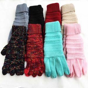 Inverno Guanti di maglia Made In China Touch Screen Gloves di stirata di modo di lana lavorato a maglia caldo unisex completa Mittens dito regalo di natale HH7-1816