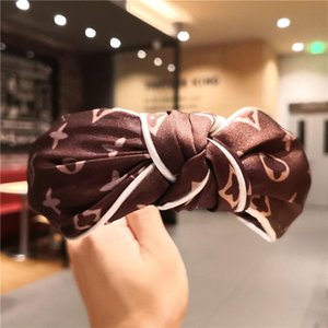 Moda atado Hairbands femininas, Headwear coreano estilo Impresso Aba larga Cabelo Hoop Headband Adult Apparel Acessórios de cabelo
