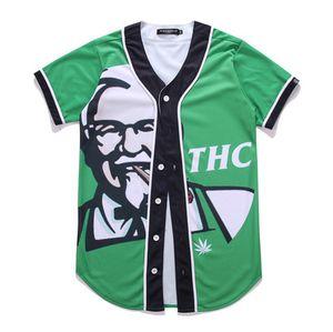 الأزياء 3D الرجال البيسبول قميص الرياضة البلوزات ذات نوعية جيدة مع زر بيع على الانترنت 42