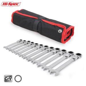 Hi-Spec 6/8 12pc combinación de herramientas de reparación Juego de llaves de trinquete flexible de par clave llave del coche juego de herramientas manuales